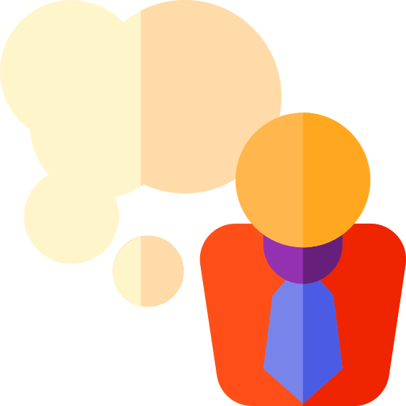 A clipart image for thinking